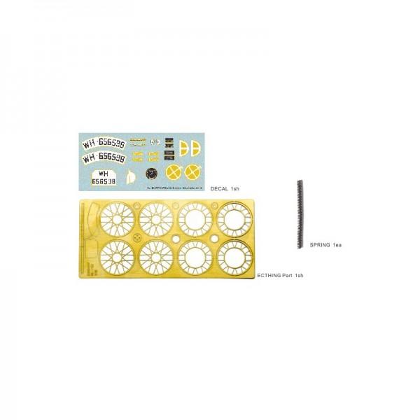 1/16 Bausatz Motorrad Zündapp KS-750 Set mit Seitenwagen und 2 Figuren