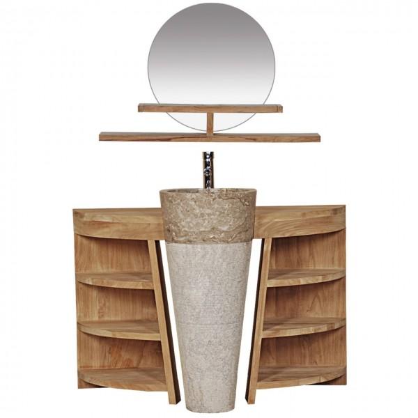 Badmöbel Set Laxa Teak Massivholz